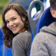 Passenger on a train