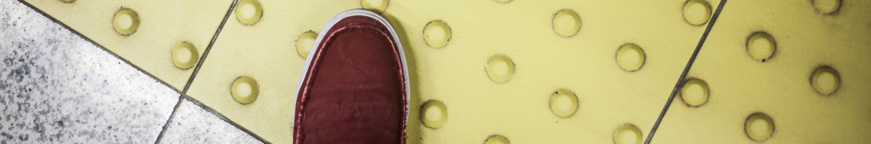 Platform edge and shoe